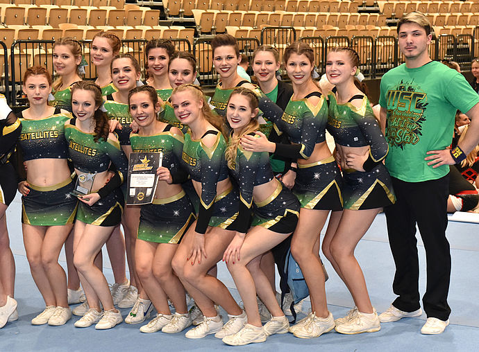 WSC Satellites: Platz 3 im Senior Coed Level 4. Foto: Olaf Heessel