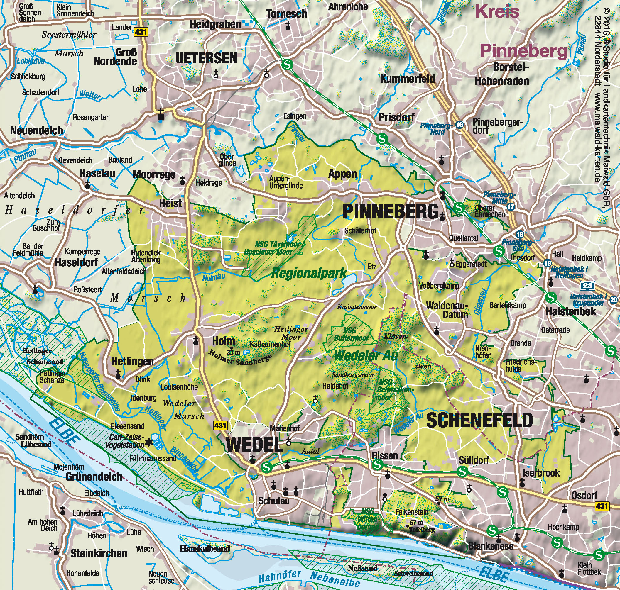 wedel hamburg karte Stadt Wedel: Regionalpark Wedeler Au