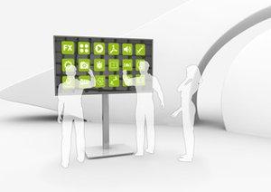 Digital Signage Touch Screen Software mit AppStore für beliebige interaktive Displaysund Wände in beliebiger Form und Größe